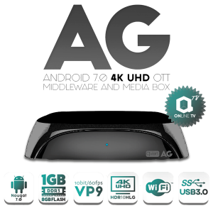 Receptor Android IPTV, 4K,H.265, Wifi integrado 2.4Ghz