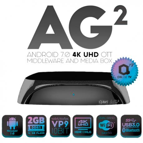 Receptor Android IPTV, 4K,H.265, Wifi integrado 2.4/5Ghz