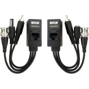 Balun vídeo HD, Audio + alimentación, transmisión por cable datos RJ45. 2uds