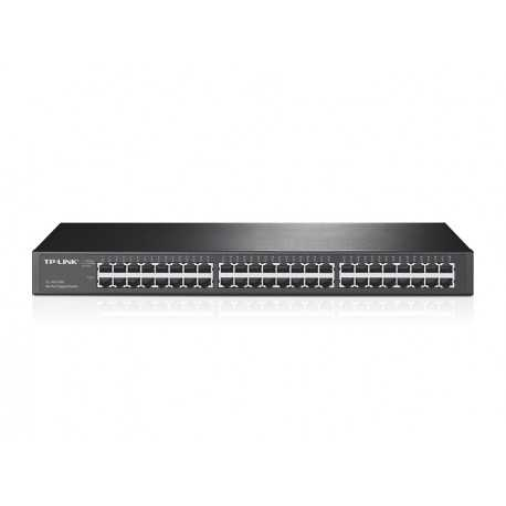 "Switch de 48 puertos Gigabit, para Rack 19"", carcasa de metal"
