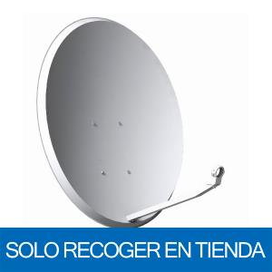 Antena parabólica de 80x71cms, 38,6dB, acero. Sin embalaje. Solo recoger en tienda
