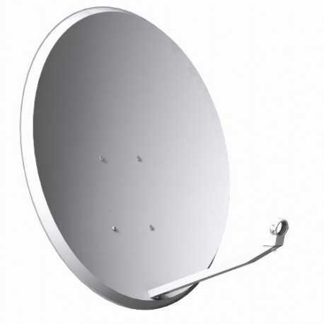 Antena parabólica de 80x71cms, 38,6dB, acero galvanizado, Embalaje individual