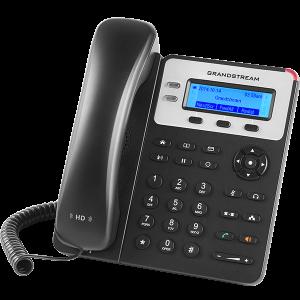 Teléfono IP con 2 líneas, 132 x 48 backlit LCD, 3 teclas XML programables, SIN POE. Grandstream