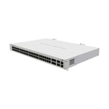 Cloud Router Switch 650Mhz, 64Mb RAM, x1 10/100, x48 Gb, x4 SFP+, x2 QSFP+, RouterOS. L5. Para Rack
