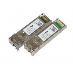Pack 2 módulos SFP 10Gb bidireccionales, Monomodo, 1330nm, 10kms, Conector LC