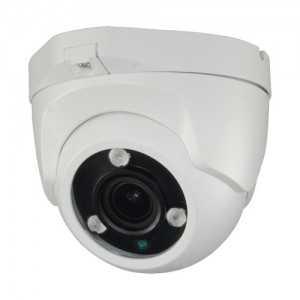 Cámara domo 4 en 1, 1080p, 2.8-13.5mm , IR 40mts. WDR, IP66, Blanca
