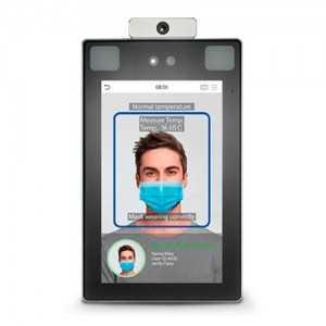 Control de accesos facial, detección de fiebre y mascarilla, palma y huella. Apto para exterior IP68