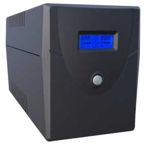 SAI OFF-LINE 2000VA/1200W, Entrada 220-240 Vac, x4 Shcuko, x2 RJ45, x1 USB tipo B, x1 VGA