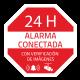 Pegatina ALARMA 24H