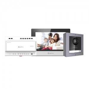 "Kit videoportero 2 hilos a IP placa INOX superficie. Con monitor 7"" Wifi, App móvil P2P. Unifamiliar."