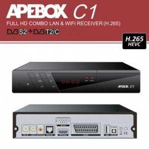Receptor (H.265 HEVC) DVB-S2 + DVBT2/C FULL HD con LAN y WIFI.