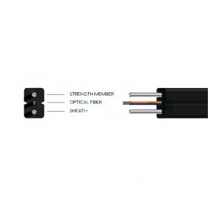 Cable 4F G657A2, SM, Plana, LSZH, exterior, FRP, x2 guìas Kevlar. Bobinas de 1000mts
