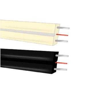 Cable 1F G657A2, SM, Plana, 2x3mm, LSZH, interior, FRP, x2 guìas de acero, CPR-ECA. Bobinas de 1000mts