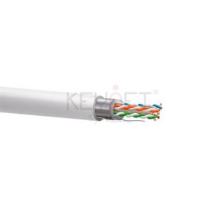 Cable CAT6 FTP, Cobre, LSZH, CPR-DCA, blanco. Bobina 500mts