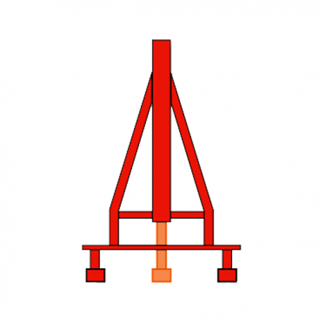 Torreta tramo superior de 0'85m. Medida externa de 488mm. Unión mediante enlace roscado M20. Color rojo