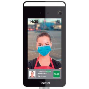Control de Acceso facial, con detección de temperatura y mascarilla.