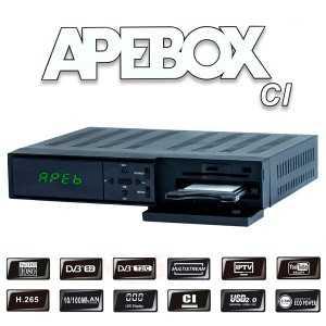 Receptor COMBO (S2 + T2) FULL HD, H.265, CI, Ethernet, Wifi USB opcional, Multistream