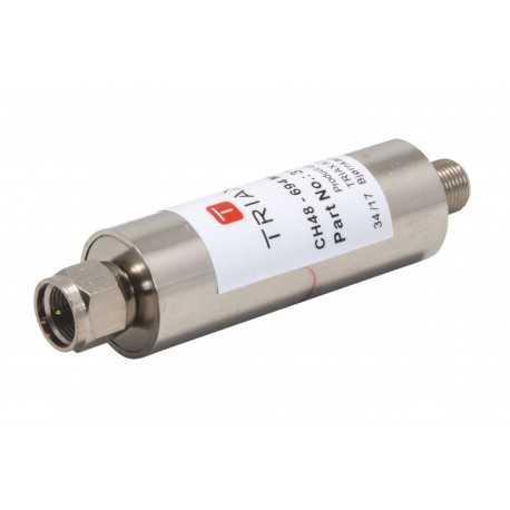 Filtro de rechazo LTE C48, 50 dB. Interior, Conector F