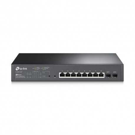 Switch Gestionable de 8 puertos 10/100/1000 PoE+ + 2 puertos SFP. Para rack