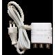 Fuente de alimentación 24V / 200ma. 2 salidas. Mini