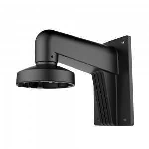 Soporte de pared para cámaras domo - Aluminio con tratamiento Spray- 120 (Al) x 120 (An) x 169 (Fo) mm. Negro