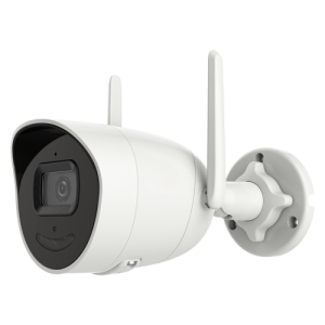 Cámara IP Wifi bullet, 4MPx, IR 30mts, 2.8mm, H.265+, PoE802.3af. Audio. IP67