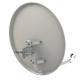 Antena parabólica de 60x54cms, 36,1dB, acero galvanizado, Embalaje individual