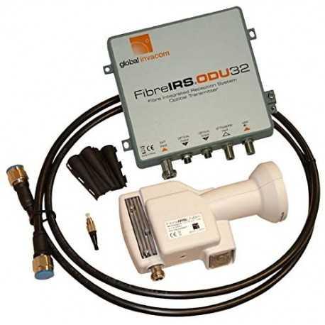 Kit conversor de satelite y TDT a Fibra Óptica. 2 sálidas F.O. FC/PC. Global Invacom F101720