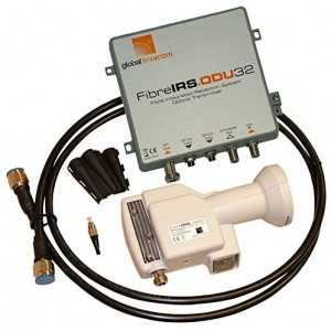 Kit conversor de satélite y TDT a Fibra Óptica. 2 salidas F.O. FC/PC. Global Invacom F101720