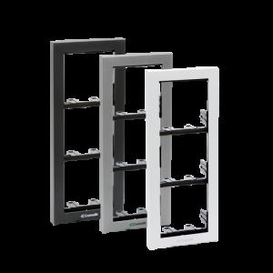 Soporte 4 módulos para placa mod. IKALL color negro antracita