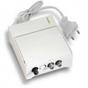 Receptor óptico. 1 FC/APC IN, 2 RF (TV+SAT) OUT. Salida 73db TV, 78db SAT