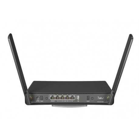 Routerboard WIFI AC 2.4/5Ghz, 27dBm (500mW),4 Cores, 716Mhz, 256Mb RAM, x5 Gb, x1 USB. RouterOS, Level 4
