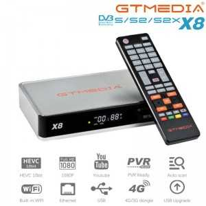 Receptor SAT (S2X), FULL HD, H.265, Wifi integrado.