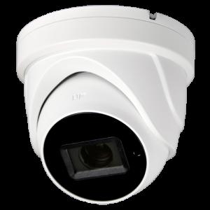 Cámara domo 4 en 1, 8Mpx Gama Pro, 2.7-13.5mm, IR 60mts. IP67, blanca.