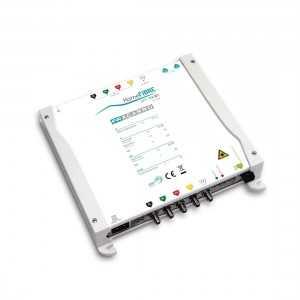 Transmisor óptico para la distribución de hasta 4 satélites en una sola fibra con tecnología CWDM (Coarse Wavelength Division M