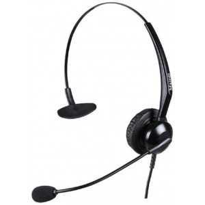 Diadema monoaural RJ9 para teléfonos Atcom, Grandstream, Yealink y otros