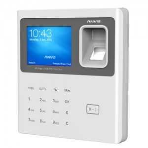 Control de presencia para registro horario por huellas dactilares, tarjetas RFID y teclado