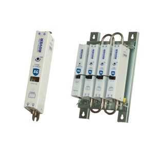 Amplificador mono canal Gama ZG, 53dB, 123dBuV. 24V.