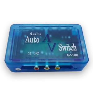 AV Switch 4 entradas 1 salida 12V DC, Dimensiones: 119x78x28mm