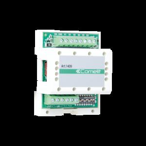 Conmutador digital para instalación con 2 entradas (conmutador para placas). Sistema 2 hilos. Compatible con Kits Quadra