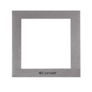 Bastidor 1módulo marco silver (gris) placa IKALL