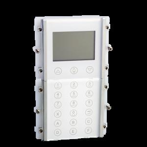 Módulo de llamada digital para placa modelo IKALL acabado en policarbonato blanco. Compatible con sistemas Simplebus 2 y VIP.