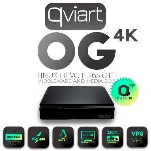 Receptor 4K Linux IPTV, 4K,H.265, Wifi USB opcional. Linux.