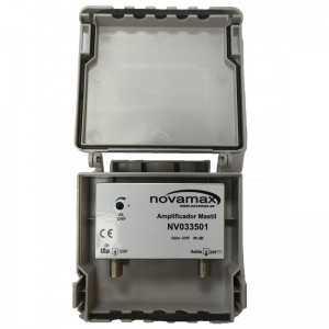 Amplificador de mástil 5G. 1 Entrada. UHF (C21/48), 36dB, Ajustable 20dB, 107dBµV.