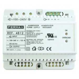 Fuente de alimentación DIM6 100-240VAC/18VDC-1.5A. Fermax 4812