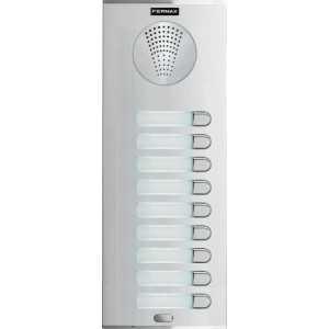 Placa de portero electrónico 9 pulsadores, City S7, AP109, 4+N. Fermax.
