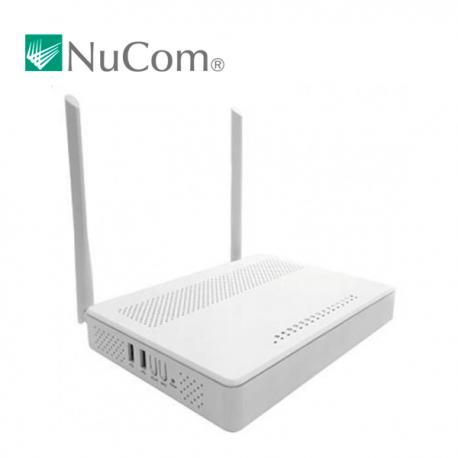 Router + ATA AC 1200 Mbps, 2,4/5Ghz, x4 puertos Gb, x2 antenas (5dBi), USB 3.0 y 2 x FXS para VoIP