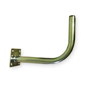 Soporte pared en L (antenas de 65 a 80cm), grosor 1,5mm, diámetro 3,5mm, 350mm separación, placa de 100x100mm
