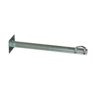 Garra muro 50 cms, placa 90x120mm, para mástiles de 20-50mm