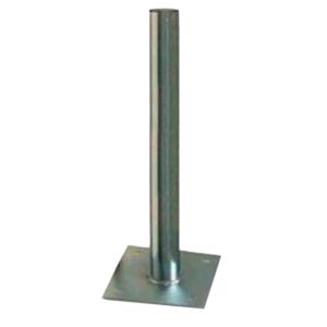 Soporte de suelo para antenas de 125cm,850x60mm, placa 250x250mm